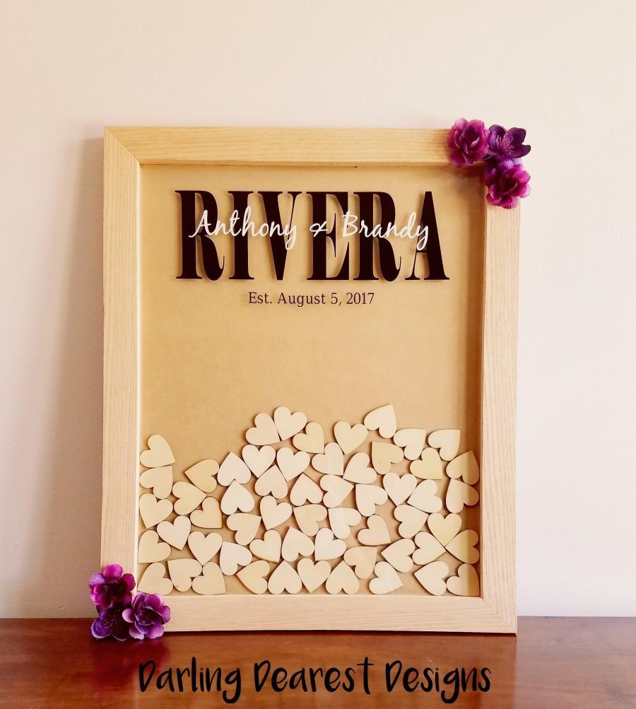 Свадьба - Alternative Wedding Guest Book/Guest Book Drop Box/Heart Drop Box