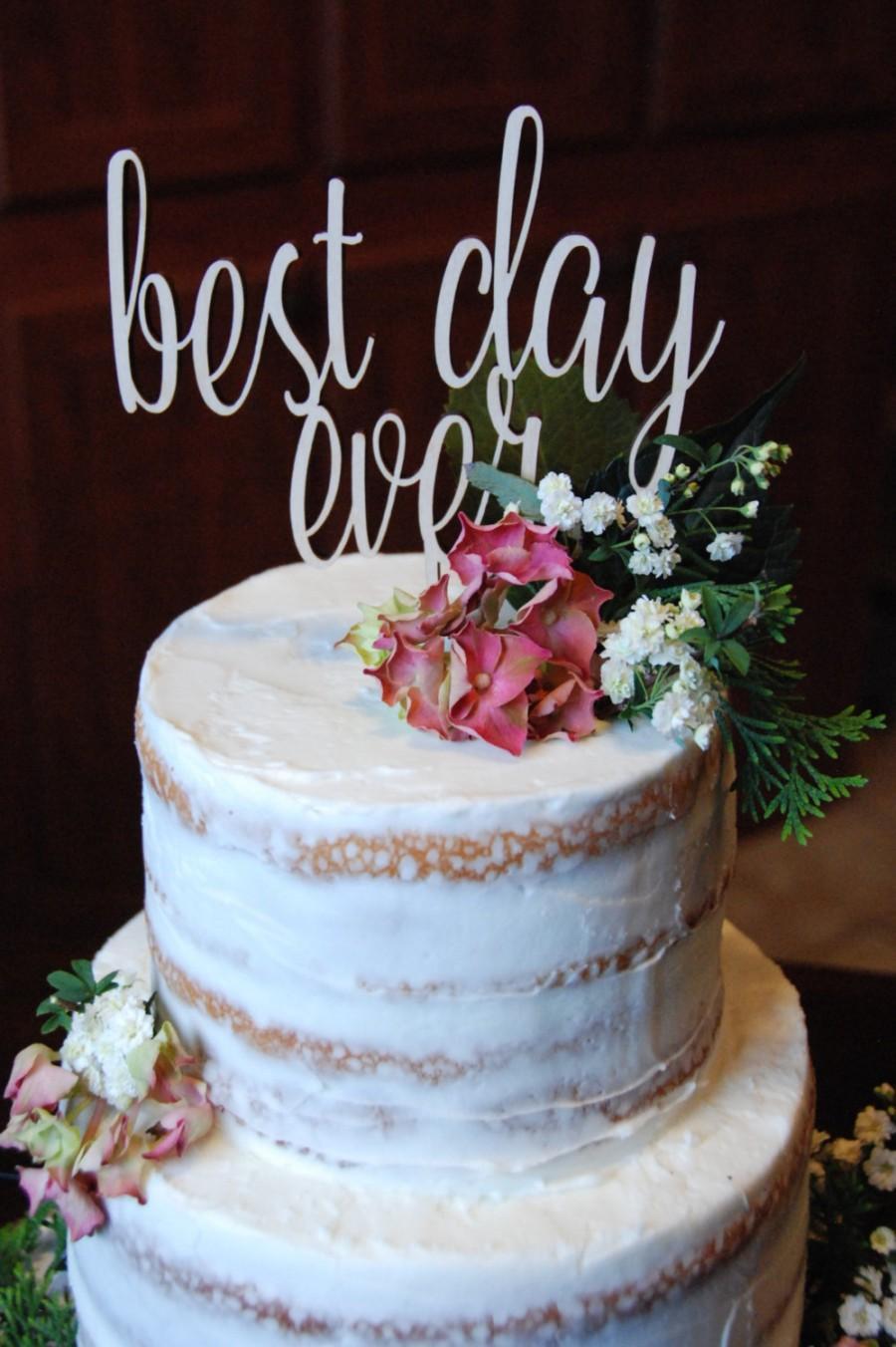 Свадьба - Best Day Ever Cake Topper - Wedding Cake Topper - Birthday Cake Topper - Celebration - Party