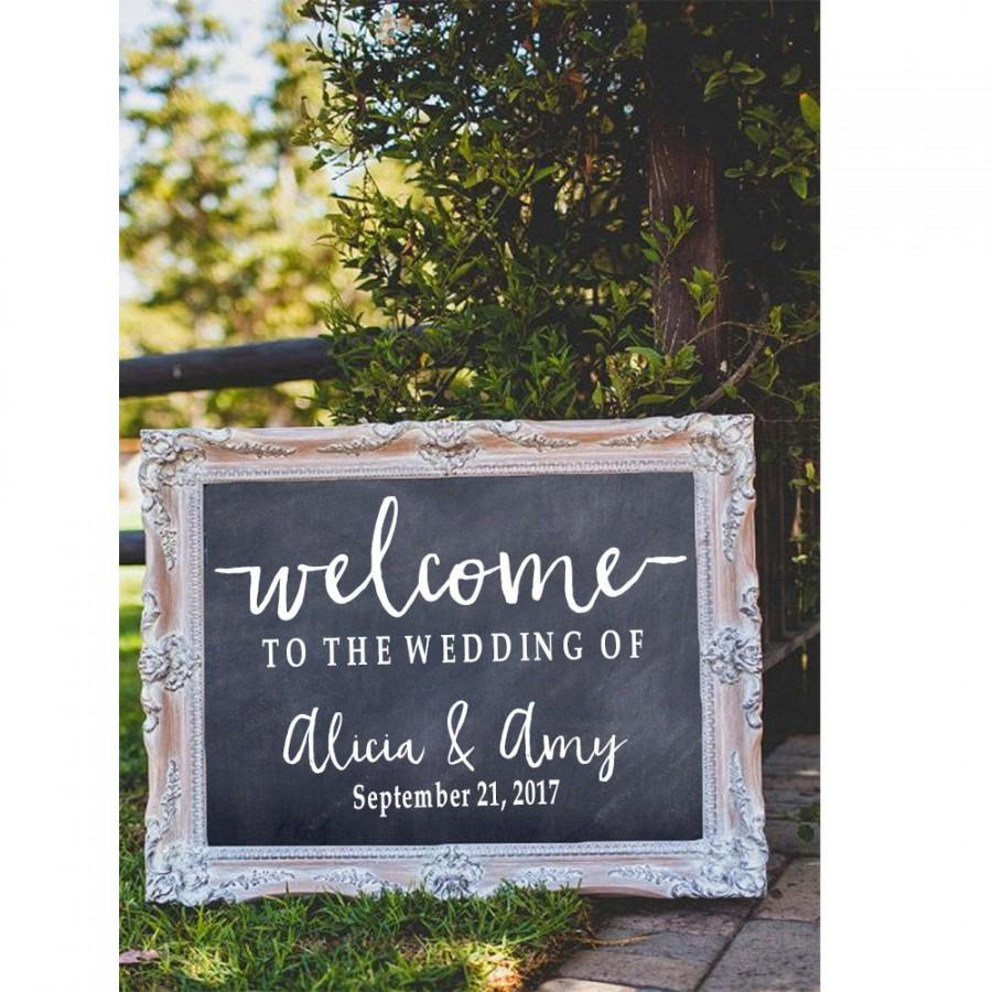 Mariage - Welcome to the Wedding of Decal, Wedding Decor, Wedding Established, Rustic Wedding Decor, Rustic Wedding Sign, Wedding Welcome Sign, Custom