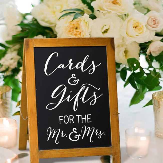 Hochzeit - Cards and Gift Sign - Cards Sign - Gift Sign - Wedding Cards and Gifts Sign - Wedding Sign - Wedding Decor - Wedding Reception - Gift Table