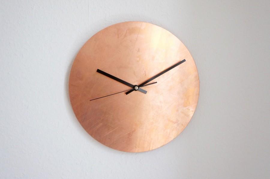 Mariage - Copper Raw Wall Clock