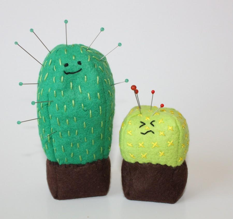 Wedding - Cute Cactus Kawaii Cacti Wool Felt Pincushion Pattern