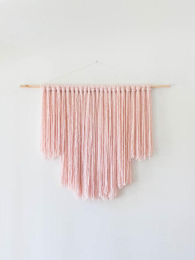 Wedding - Large Blush Pink Modern Bohemian Wall Hanging