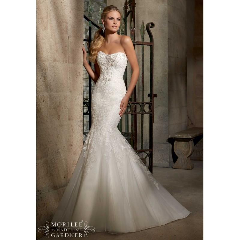 Mori lee 2707 strapless lace mermaid wedding dress crazy for Mori lee strapless wedding dress
