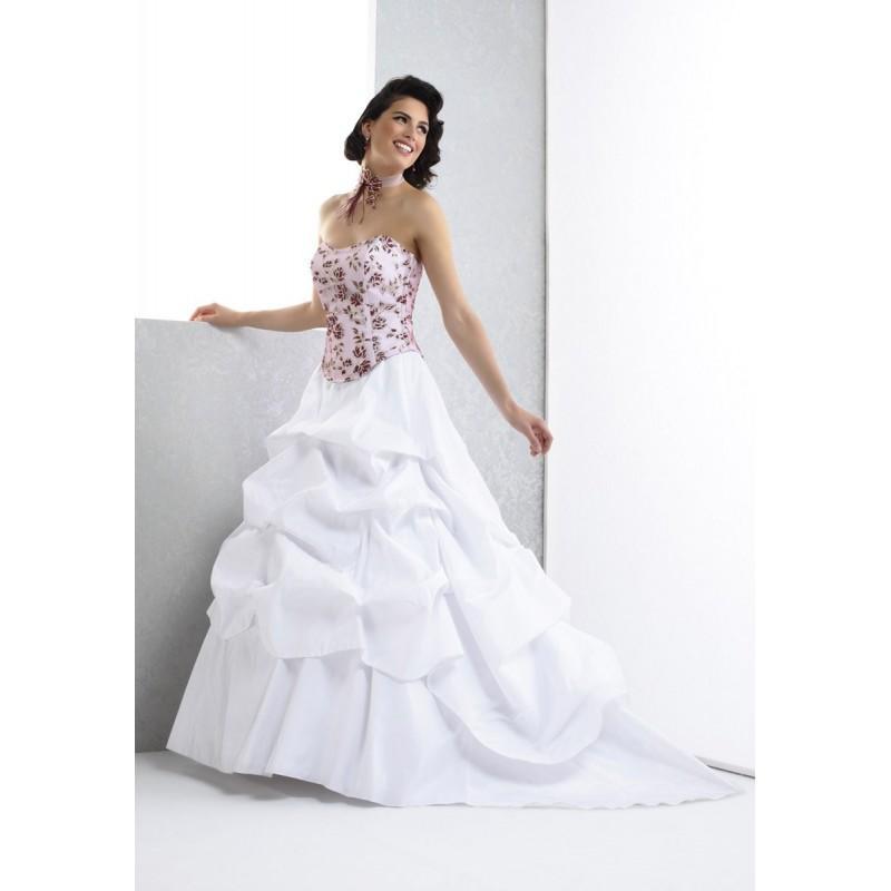 زفاف - Pia Benelli, Amour blanc et bordeaux - Superbes robes de mariée pas cher