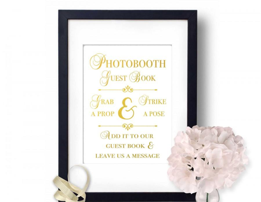 Mariage - Photo booth sign, Wedding photobooth, Gold Wedding decor, Guest Book Sign, wedding signs photo booth, wedding ideas, guest book ideas