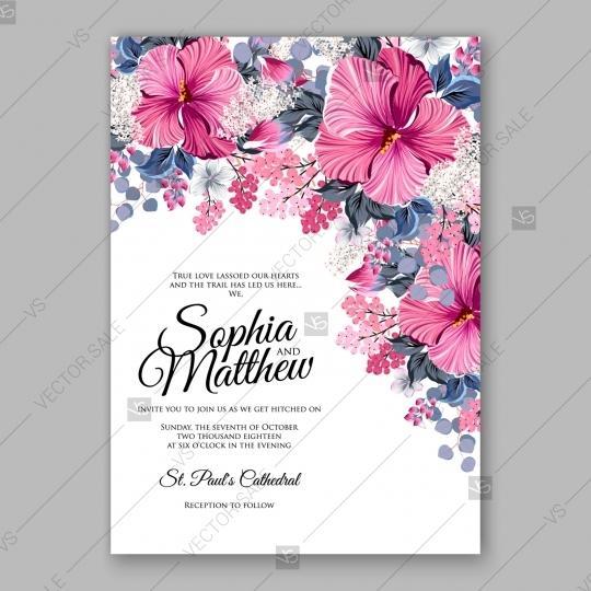 hibiscus wedding invitation card template 2727582 weddbook