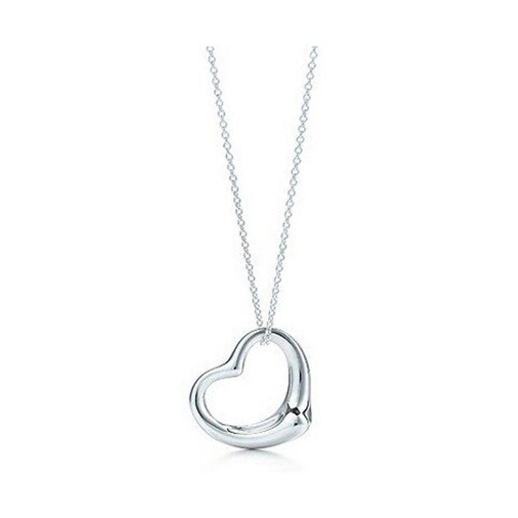 Wedding - 2016 New Popular High-end Jewelry Silver Jewelry Necklace Silver Plated Heart Pendant Necklace X2