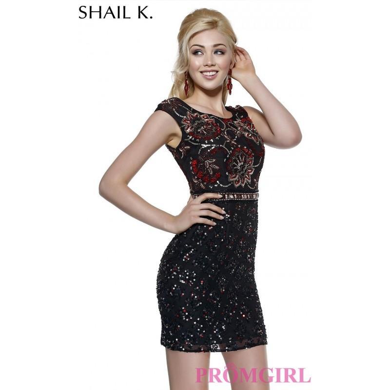Hochzeit - Shail K Short Sequin Homecoming Dress - Brand Prom Dresses