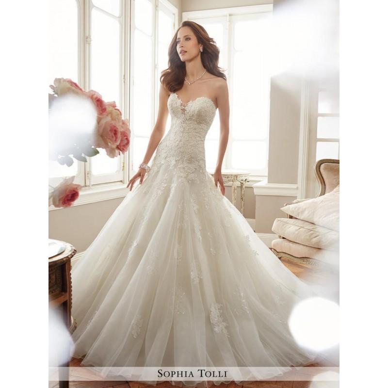 Wedding - Ivory Sophia Tolli Bridal Y11715 - Brand Wedding Store Online