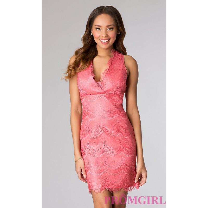 Wedding - Short Sleeveless Lace Dress - Brand Prom Dresses