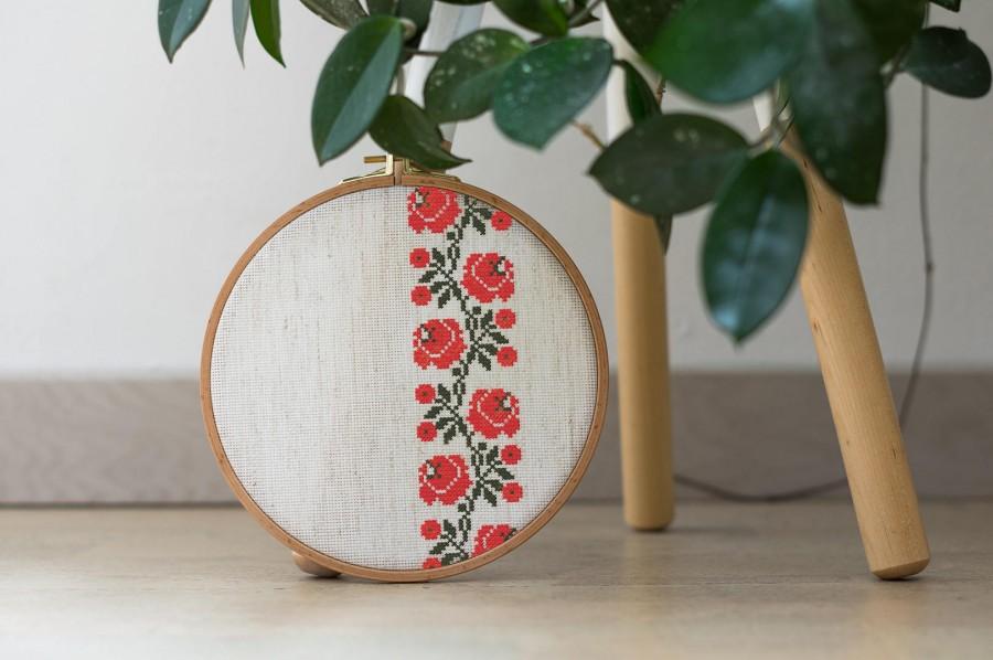 Modern Cross Stitch Pattern - Modern Ukrainian Flower