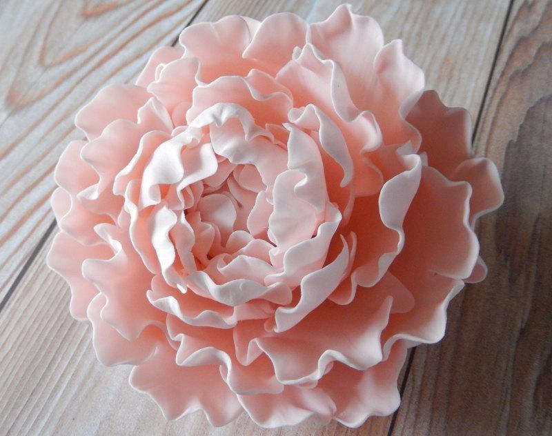 Свадьба - Pink Sugar Peony Wedding Cake Topper