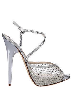 زفاف - Christian Dior Net Swarovski Sandals