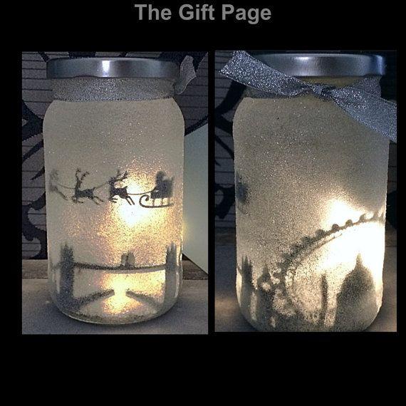 Night Light Mood Lighting Santa Over London In A Jar Fairy Jar Glitter Jar Christmas Light Up Jars Mason Jars 2728223 Weddbook