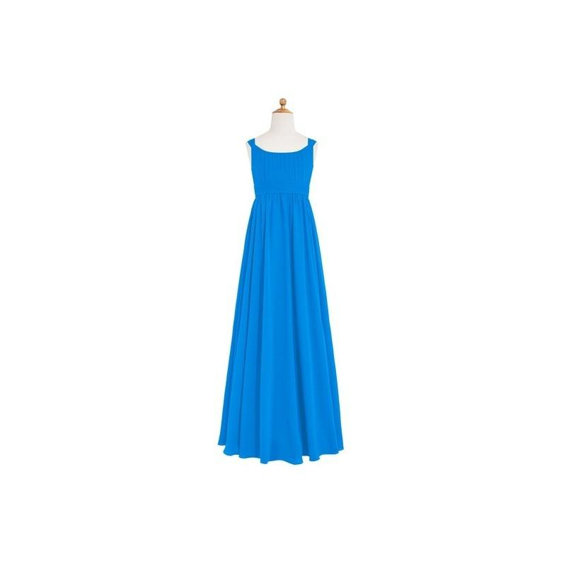 Свадьба - Ocean_blue Azazie Tiana JBD - Scoop Floor Length Chiffon Bow/Tie Back Dress - Charming Bridesmaids Store