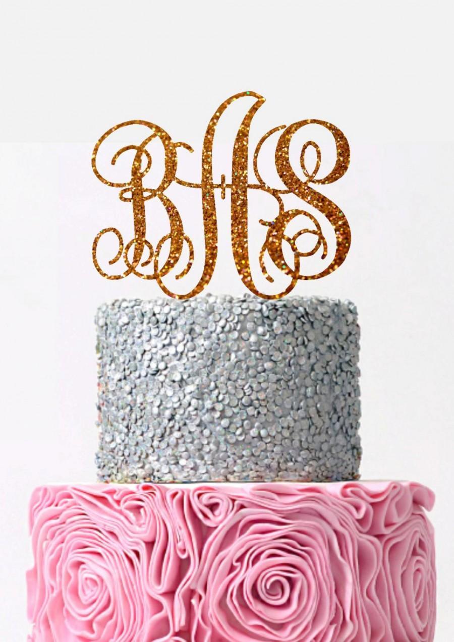 Свадьба - Initial Wedding Cake Topper Monogram Cake Topper  Custom Monogram Topper Personalized Letter Monogram Wedding Cake Topper Personalized