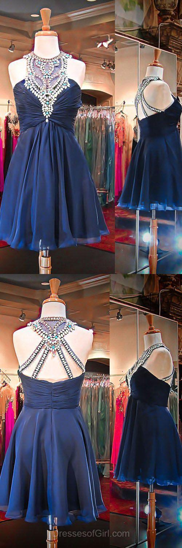 Wedding - Short Prom Dress, Elegant Beaded Prom Dress,Cute Prom Gown From Fashiondresses