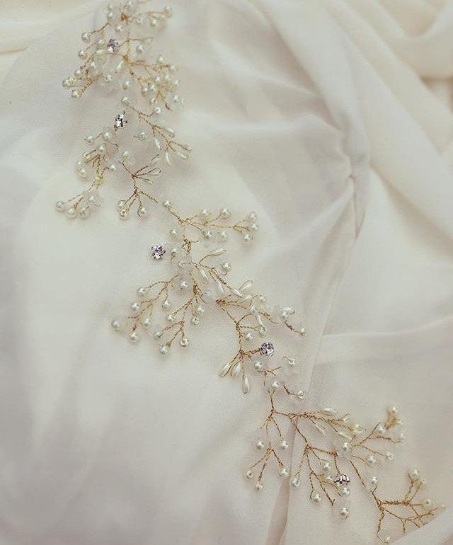 "Wedding - Custom Made ""Anabel"" Vintage Bridal Headpiece Wedding Hairpiece"