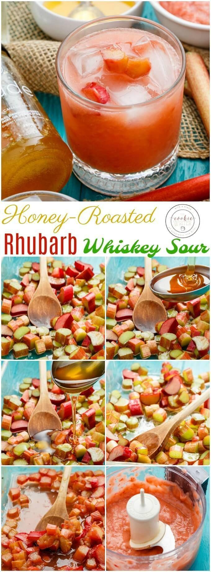 Wedding - Honey-Roasted Rhubarb Whiskey Sour