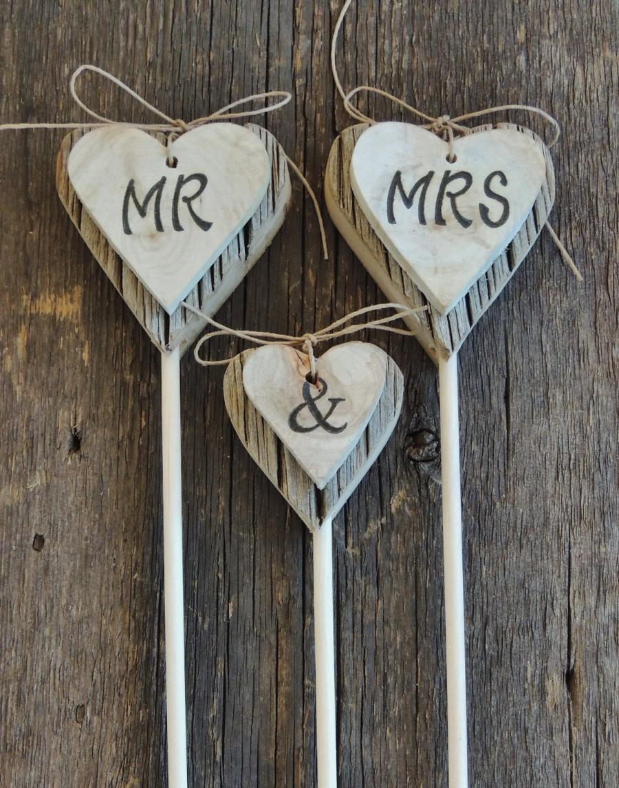 Свадьба - MR. MRS. Cake Topper, Rustic Wedding Cake Topper, Wood Heart, Aspen Slice Cake Topper, Country Wedding, Cowboy Wedding, Rustic Chic Wedding