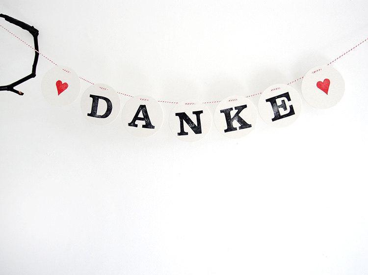 Mariage - Danke Garland // wedding bunting by renna deluxe