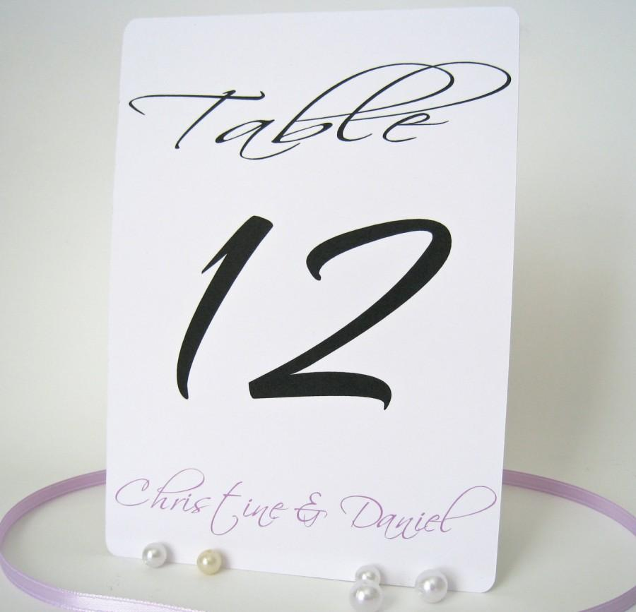 """Свадьба - Personalized table numbers 5"""" x 7"""", wedding table numbers cards, table numbers, wedding reception decor, flat table numbers"""