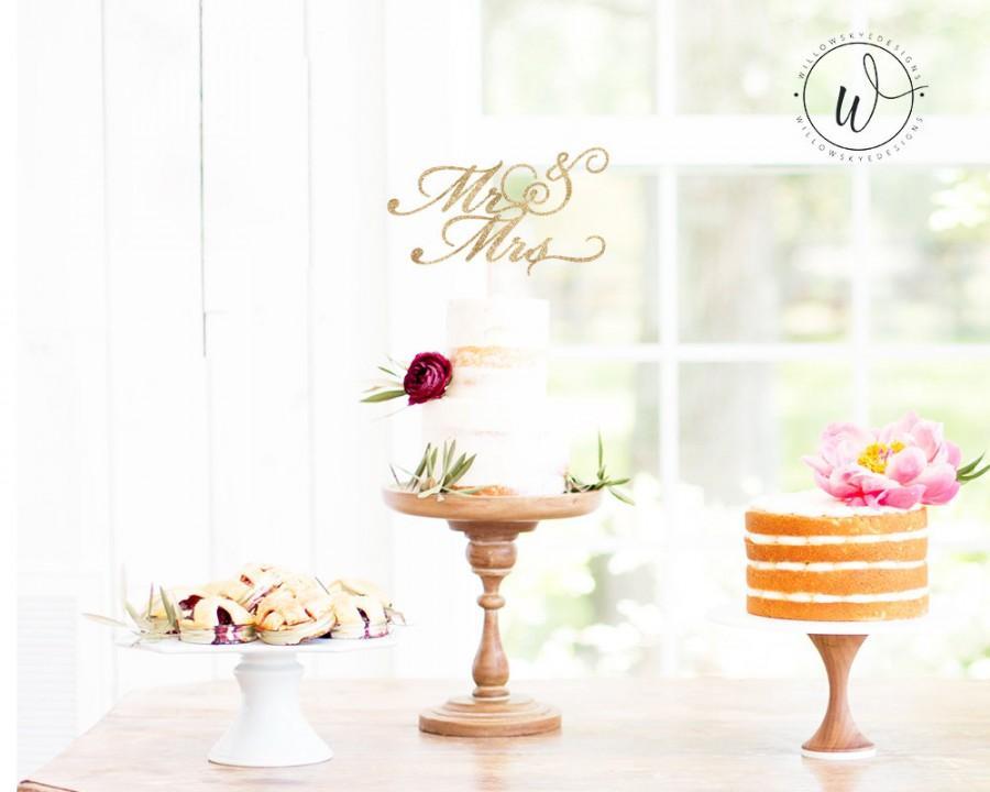 Mariage - Mr and Mrs, Wedding Reception, Wedding Decor, Cake Topper