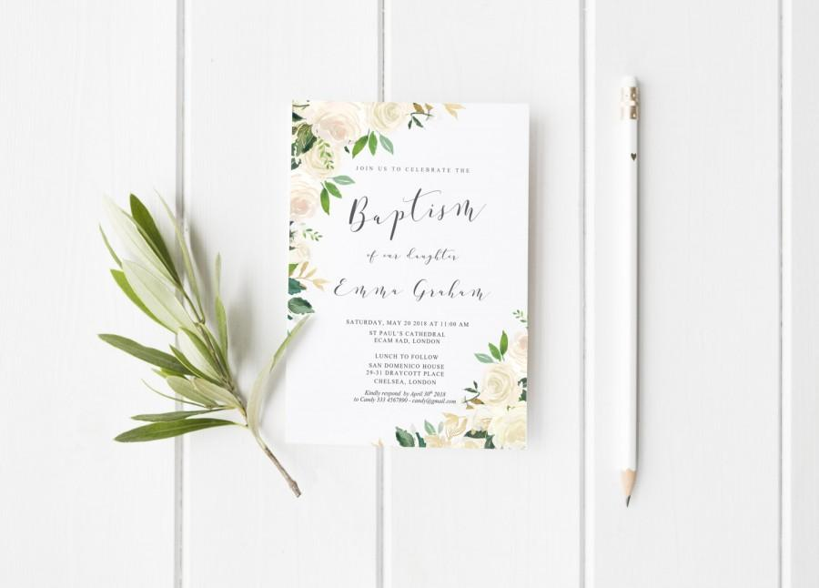 Baptism invitation printable girl baptism invitation christening baptism invitation printable girl baptism invitation christening invitation white cream baptism invitation printable the asli collection stopboris Image collections