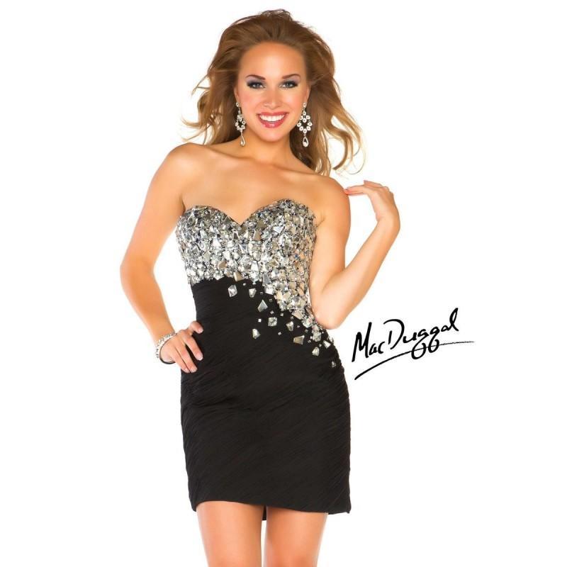 Hochzeit - Buy 2014 Silver Asymmetrical Mac Duggal Jewels Prom Dress 64582n - Cheap Discount Evening Gowns