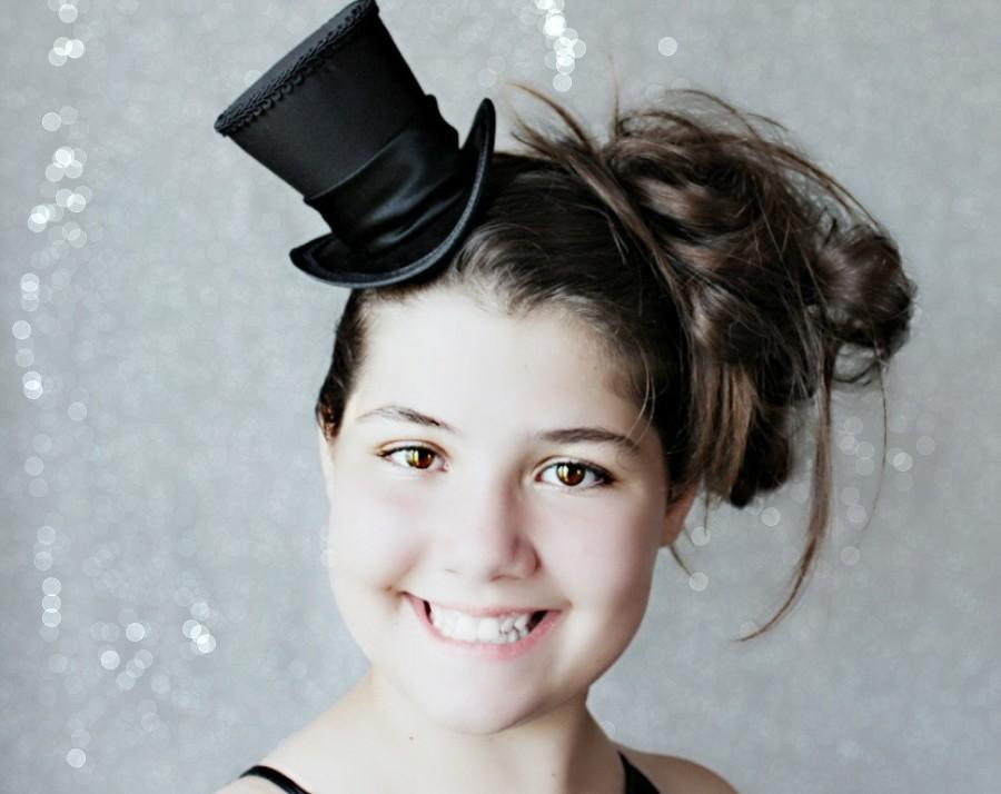 Black Mini Top Hat Black Hat Fascinator Wedding Top Hat Tea