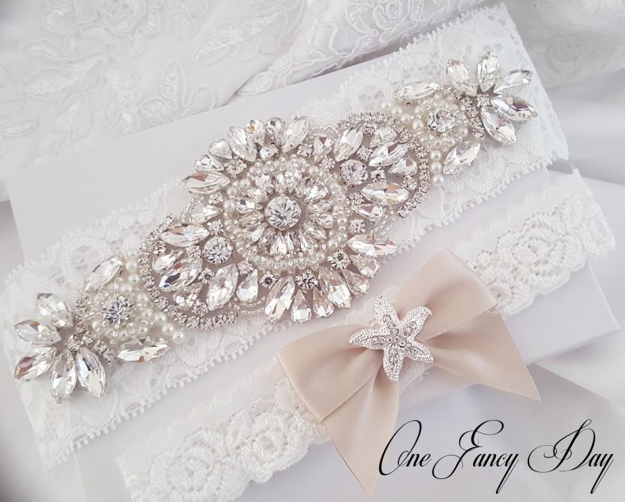 Свадьба - Starfish Beach Wedding Garter, Beach Weddings, Bridal Garter,Beach Bride,Bridal Garter Pearl,Starfish Wedding