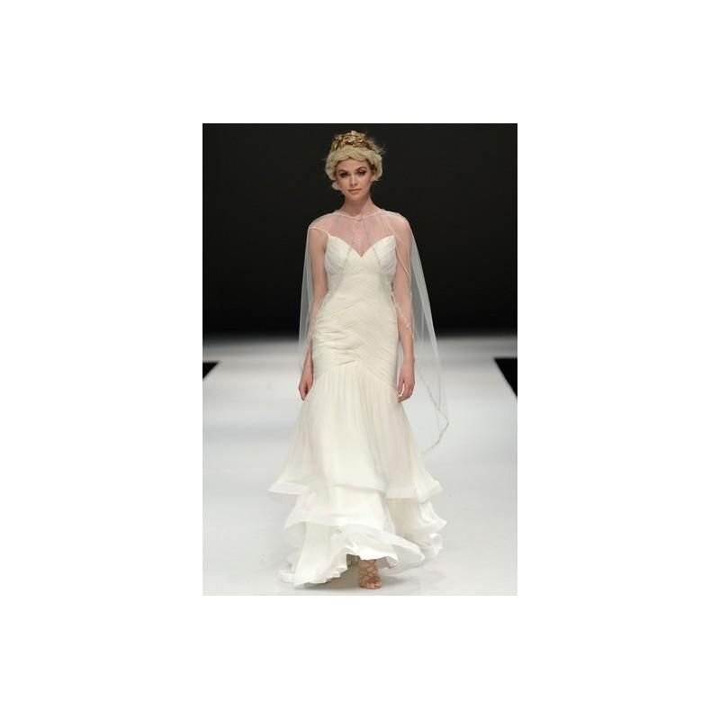 Mariage - Ivy & Aster Fall 2015 Dress 1 - Ivy & Aster Fall 2015 Full Length Ivory Fit and Flare V-Neck - Nonmiss One Wedding Store