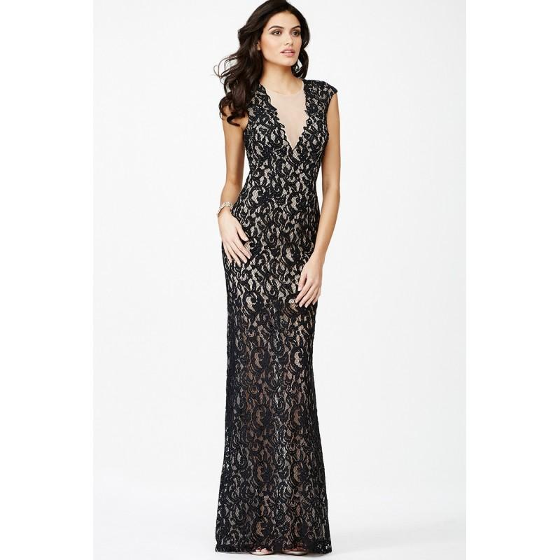 Mariage - Jovani Cap Sleeve Lace Dress JVN27505 -  Designer Wedding Dresses