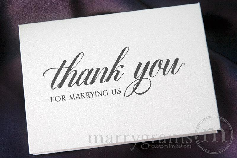 Wedding Card To Your Officiant Thank You For Marrying Us