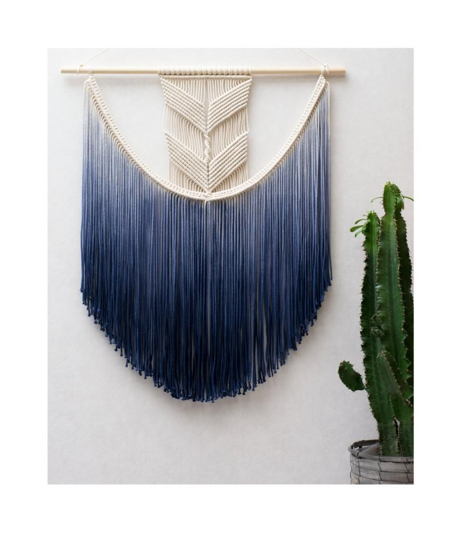 Large macrame wall hanging modern macrame dip dye for Wall hanging images