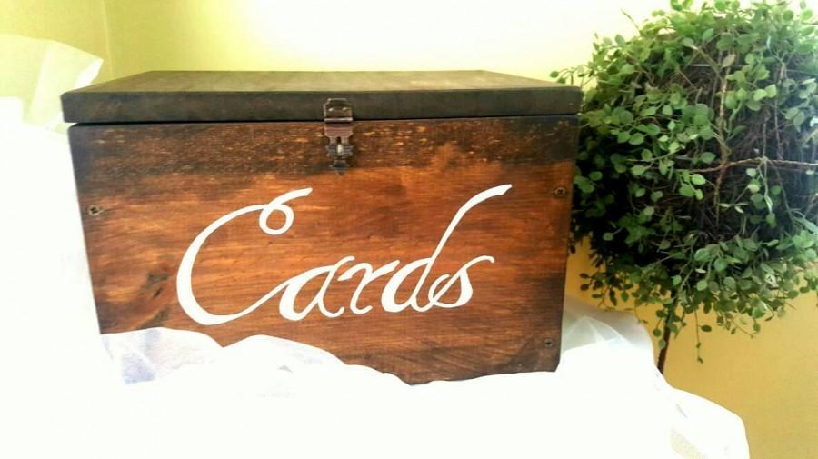Wedding Card Box Rustic Wedding Wedding Decor Lockable Card Box – Lockable Wedding Card Box
