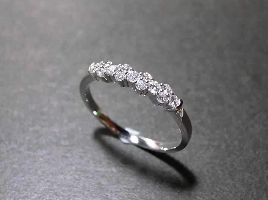 Hochzeit - Diamond Wedding Ring in 14K White Gold, Diamond Wedding Band, Diamond Engagement Ring, Diamond Ring, Diamond Band, Personalized Jewelry