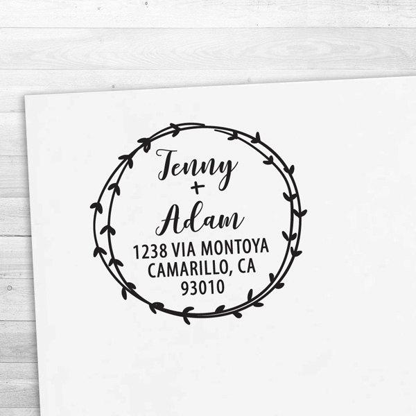 Return Address Stamp Calligraphy Handwriting Font