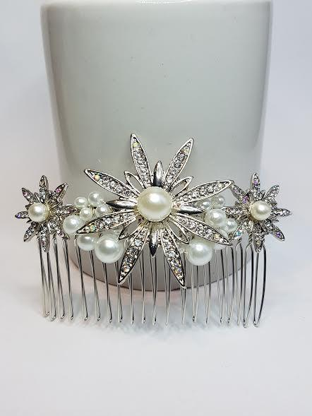 Mariage - Bridal Hair Comb, Art Deco Hair Comb, Pearl Hair Comb, Wedding Hair Comb, Diamante Hair Comb, Great Gatsby.
