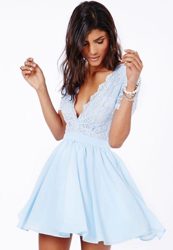 Свадьба - Cute Light Sky Blue Homecoming Dres