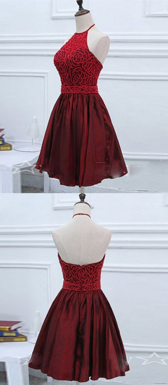 Свадьба - Burgundy Homecoming Dress,Tulle Hom