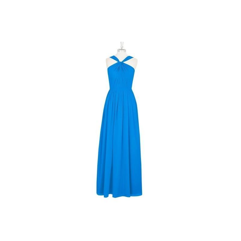Mariage - Ocean_blue Azazie Jacey - Floor Length V Neck Chiffon Back Zip Dress - Cheap Gorgeous Bridesmaids Store