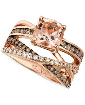 Mariage - Le Vian Peach Morganite (1-3/4 Ct. T.w.) And Diamond (3/4 Ct. T.w.) Ring In 14k Rose Gold