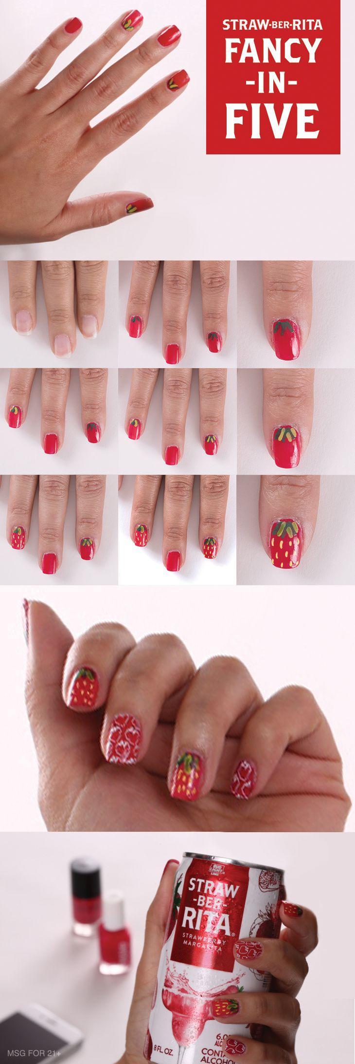 Wedding - Strawberry Nails
