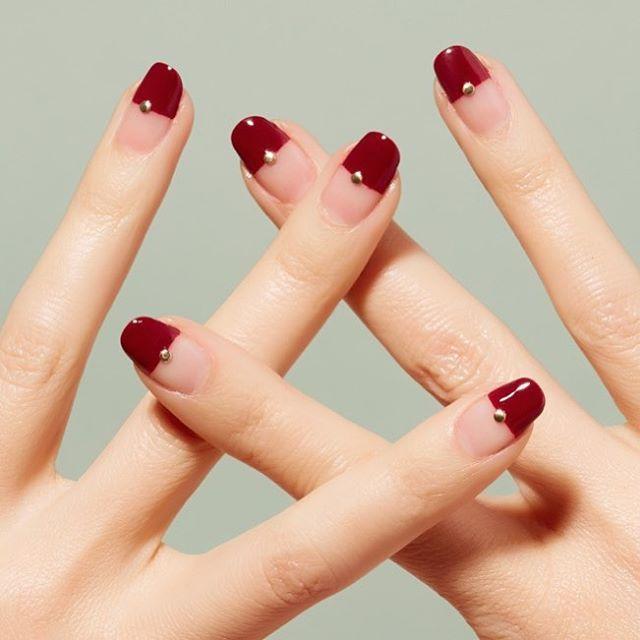 Nail Simple Red Nail Art 2730407 Weddbook