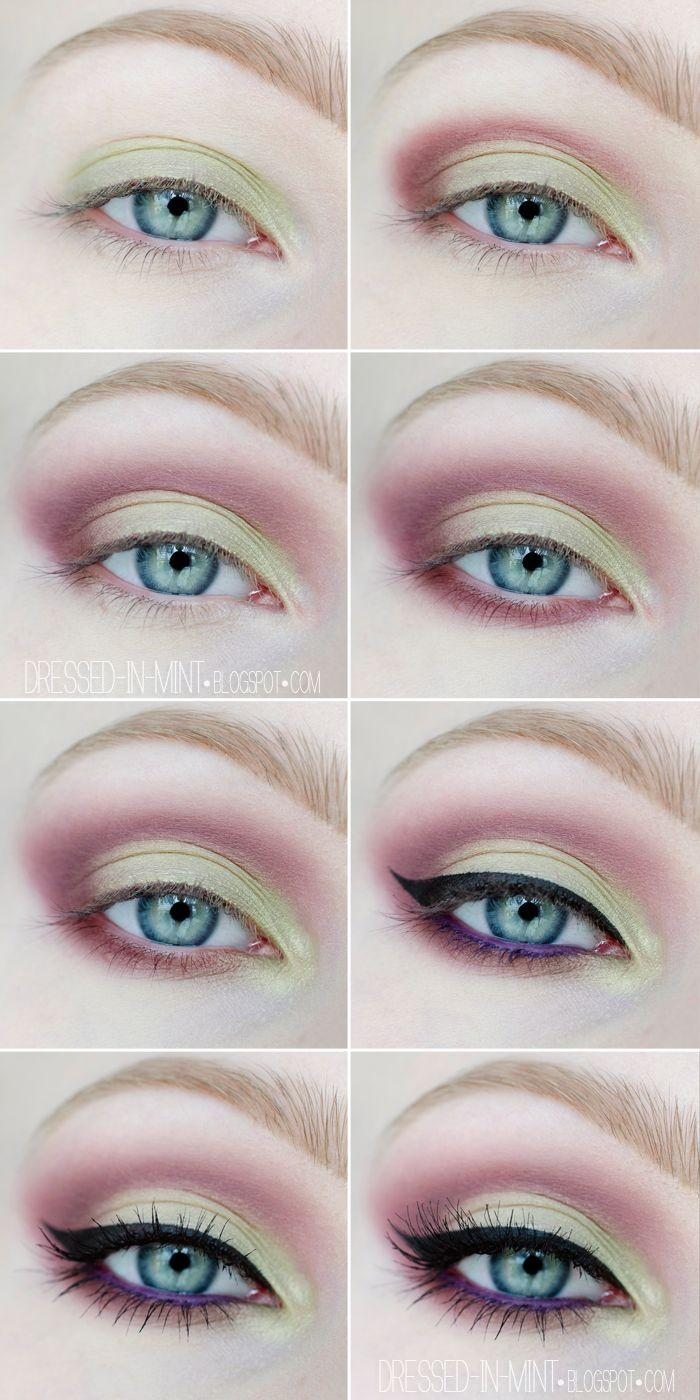 Свадьба - Maroon And Yellow Eyeshadow