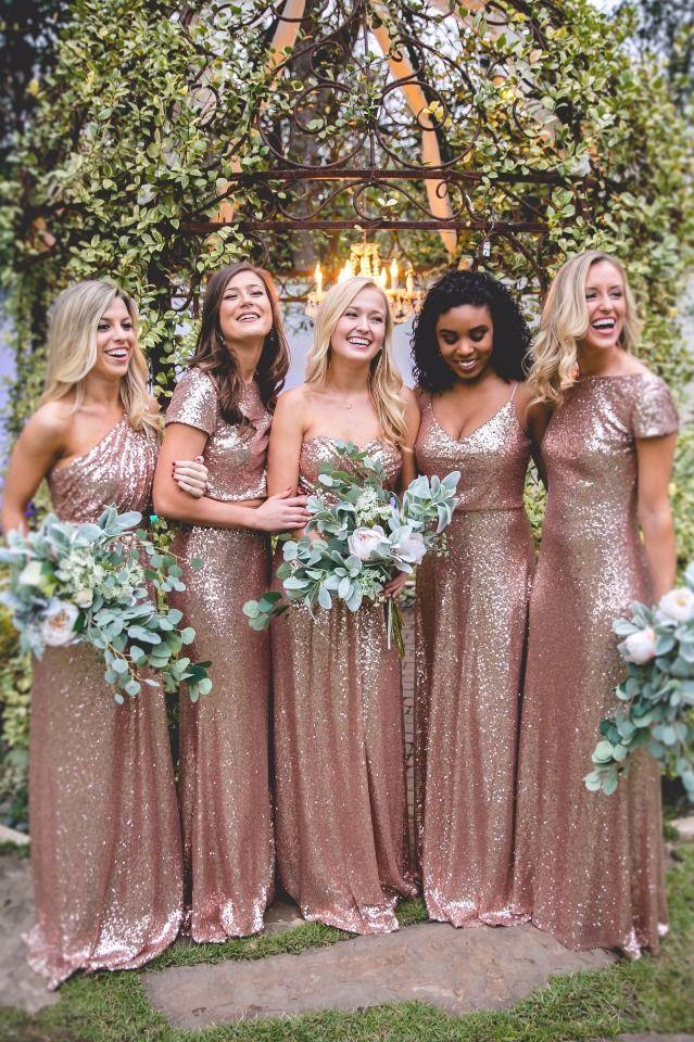Wedding - Shimmery Bridesmaid Dresses