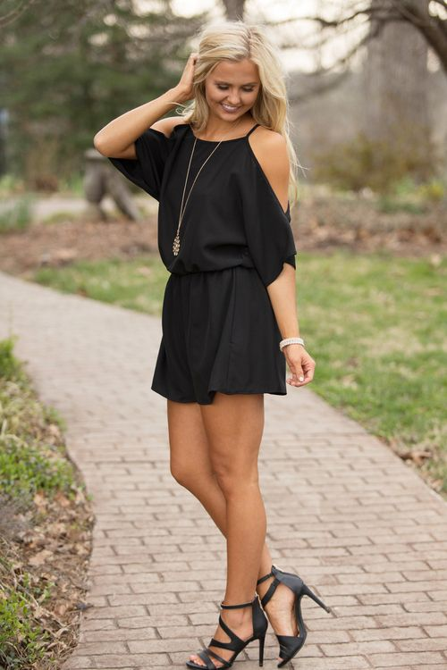 Wedding - Back By Midnight Romper Black