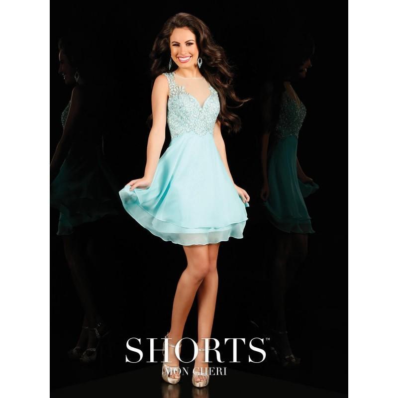 Wedding - Aqua Shorts by Mon Cheri MCS11615 Shorts by Mon Cheri - Top Design Dress Online Shop